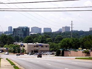 Atlanta metropolitan area - Image: Cumberlandskyline