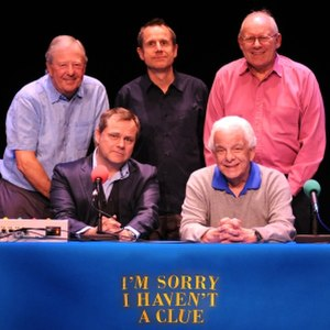 I'm Sorry I Haven't a Clue - The show's panel (including guest panellist Jeremy Hardy, top middle) with host Jack Dee (bottom row, left) in 2010.
