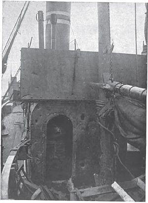 Battle of Dover Strait (1916) - Image: Damaged Drifter