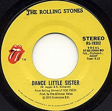 Dance Little Sister single label.jpg