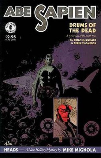 B.P.R.D.: Hollow Earth and Other Stories - Cover by Mignola for Abe Sapien: Drums of the Dead.