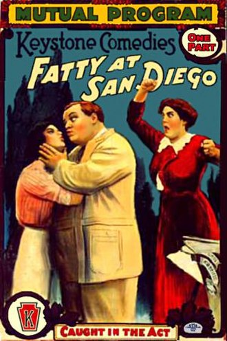 Fatty at San Diego - Theatrical poster to Fatty at San Diego