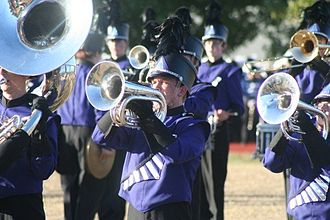 Fayetteville High School (Arkansas) - The Fayetteville High School Band at a marching competition in Carthage, MO.