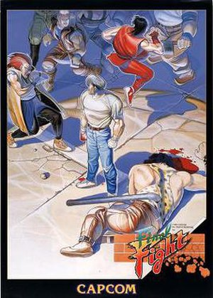 Final Fight (video game) - International arcade flyer