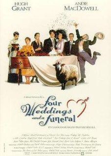 <i>Four Weddings and a Funeral</i> 1994 film by Mike Newell