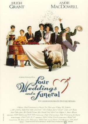 Four Weddings and a Funeral - UK theatrical release poster