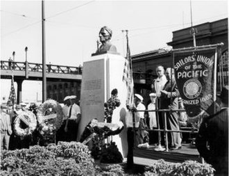 Sailors' Union of the Pacific - A monument was erected to Furuseth at San Francisco Embarcadero on September 1, 1942. It was later moved to make way for a highway.