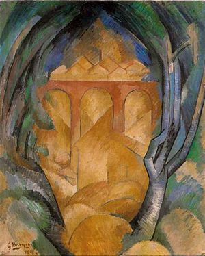 Georges Braque - Georges Braque, 1908, Le Viaduc de L'Estaque (Viaduct at L'Estaque), oil on canvas, 73 x 60 cm, Tel Aviv Museum of Art