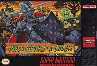 Super Ghouls 'n Ghosts - North American box art