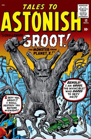 Groot - Groot (left) with Rocket Raccoon. Art by Clint Langley.