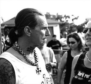 Indian Larry - Indian Larry at bike rally in Daytona Beach, Florida, 2003