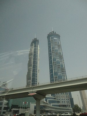 Business Bay - JW MarriottMarquis Dubai are the tallest building in Business bay, and tallest hotel in the world