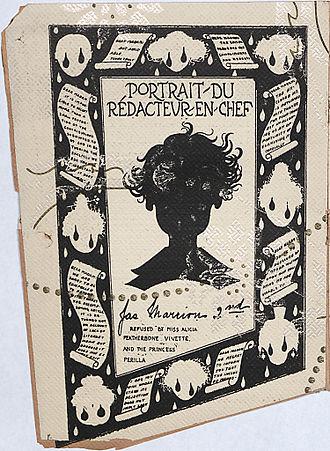 """Le Petit Journal des Refusées - """"Portrait du rédacteur en chef"""" from Le Petit Journal des Refusées, 1896."""