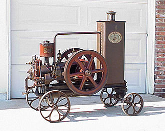 Portable engine - A Czechoslovakian portable engine.