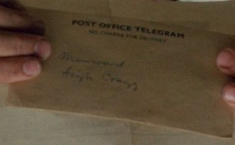 "Withnail and I - ""Marwood""? A telegram arrives at Crow Crag"