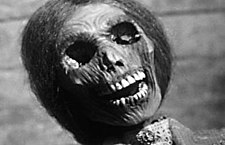 The corpse of Norma Bates in Psycho.