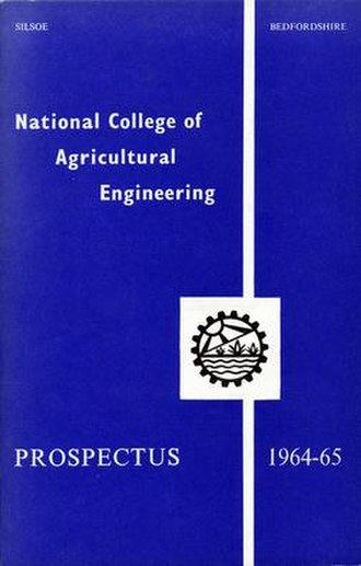 National College of Agricultural Engineering - Prospectus Cover for the third academic year