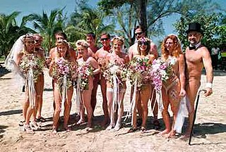 Nude wedding Nude marriage where all (or some) people are naked.