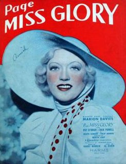 <i>Page Miss Glory</i> (1935 film) 1935 film by Mervyn LeRoy