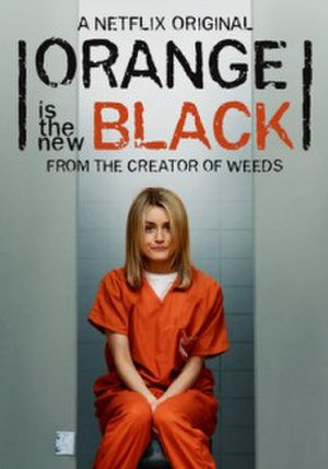 Piper Chapman - Taylor Schilling as Piper Chapman in a promotional poster for Orange Is the New Black