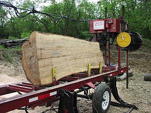 Portable sawmill - Bandsaw-Type Portable Sawmill