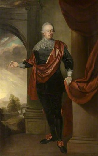 William Bell (artist) - Portrait of Lord John Hussey Delaval, painted by William Bell in 1774