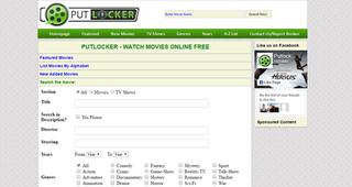 Putlocker Online illegal movie streaming site network