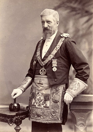 Richard Deodatus Poulett-Harris - Richard Deodatus Poulett-Harris in Masonic regalia
