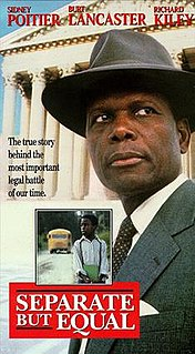 <i>Separate but Equal</i> (film) 1991 television film directed by George Stevens, Jr.