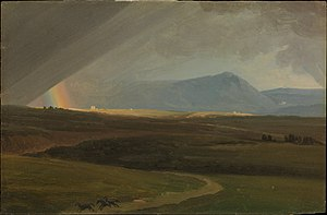 Simon Denis - Landscape near Rome during a Storm (1786–1806) oil on paper, now at The Metropolitan Museum of Art