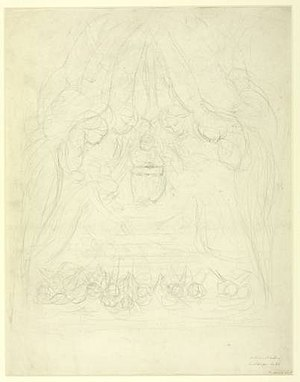 The Four and Twenty Elders Casting their Crowns before the Divine Throne - Image: Sketch for The Four and Twenty Elders (Blake)