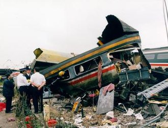 Signal passed at danger - The Southall rail crash in 1997 was a result of the driver of a Class 43 HST passing a signal at danger without authority. The high-speed train struck a freight train entering a goods yard and both trains derailed, resulting in 7 deaths and 139 injuries.