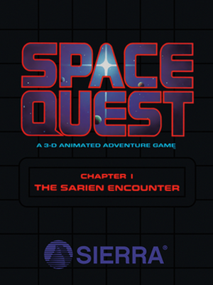 Space Quest I - Original cover art