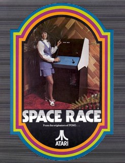 <i>Space Race</i> (video game) 1973 arcade video game by Atari