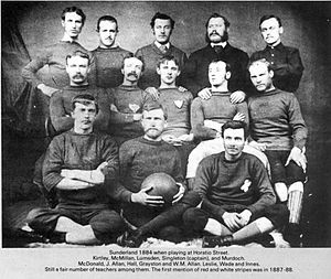 Sunderland A.F.C. - Team photo taken in 1884