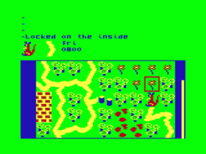 Tanglewood (video game) - Main screen of the Dragon 32 version