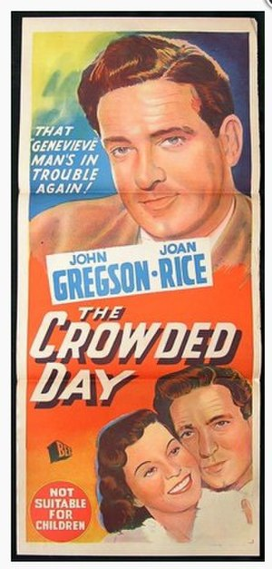 The Crowded Day - Image: The Crowded Day theatrical release poster 1954 (Australian)