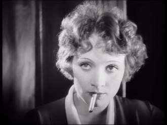 The Woman One Longs For - Marlene Dietrich in a scene from the film.