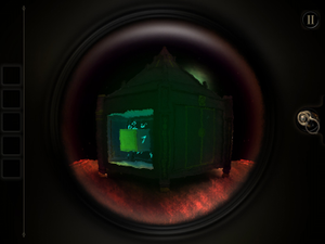The Room (2012 video game) - A core puzzle element of The Room is a lens that allows the player to see secrets otherwise hidden. Here, the player must manipulate the camera view to match up the hidden number fragments to obtain a combination code.