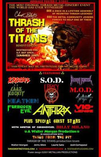 Thrash of the Titans - Thrash of the Titans concert poster
