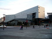 The Campus Recreation Center, designed by Thom Mayne, opened in 2006.