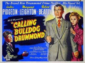 Calling Bulldog Drummond - UK quad poster for the film Calling Bulldog Drummond