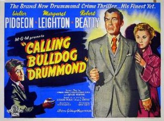 Calling Bulldog Drummond - UK quad poster for the film Calling Bulldog Drummond