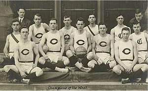 1909–10 Chicago Maroons men's basketball team - Image: University of Chicago Basketball Team, Intercollegiate Champions, 1909 10