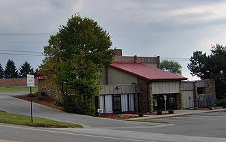 WBUT - WBUT and WLER studio location at 1758 North Main Street Extension (PA Route 8) in Center Township, at the corner of Mercer Road. This location was home to both stations from 1987 to 2003, and today houses a restaurant, salon, and sign shop.