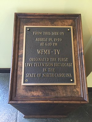 WFMY-TV - WFMY was the site of the first live television broadcast in North Carolina