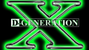 D-Generation X - The DX logo in the 1990s