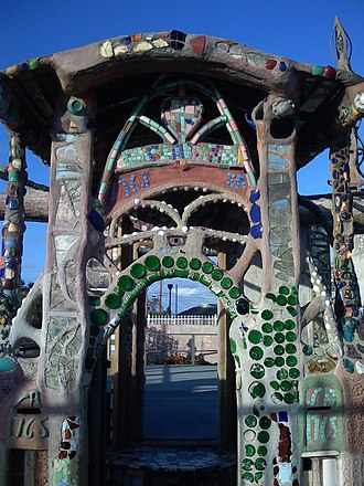 Watts Towers - Doorway detail.