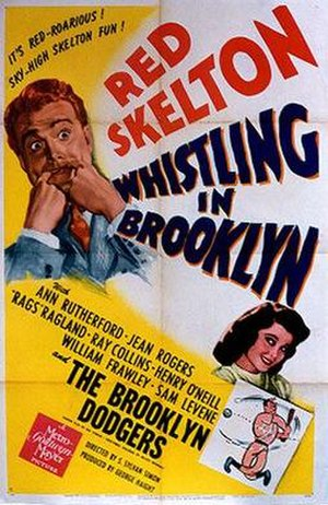 Whistling in Brooklyn - Theatrical release poster