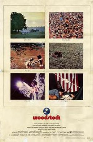 Woodstock (film) - Film poster by Richard Amsel